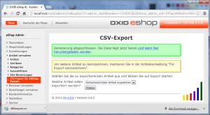 CSV-Export abgeschlossen und zum Download bereit.
